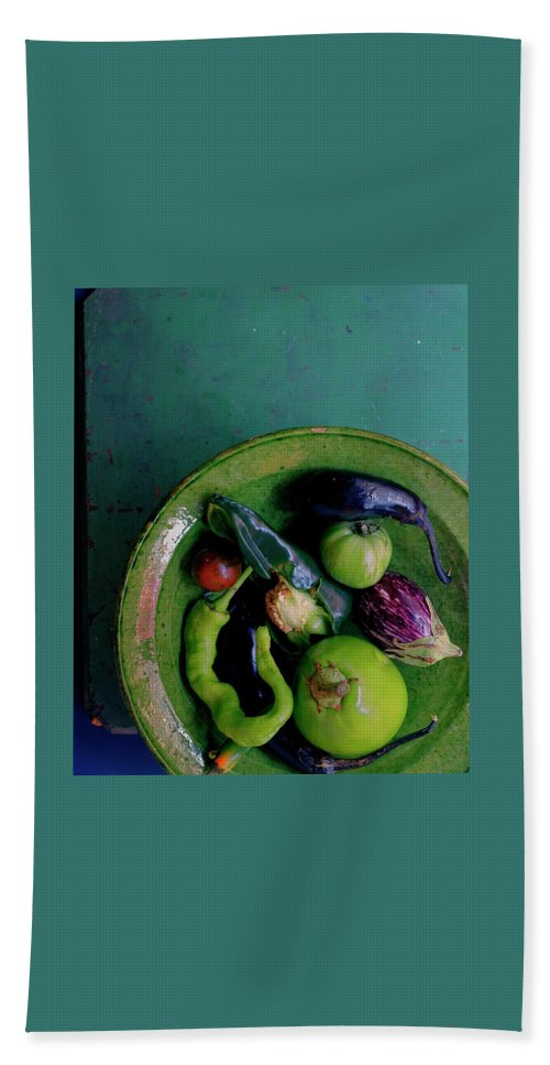 Fruits Hand Towel featuring the photograph A Plate Of Vegetables by Romulo Yanes