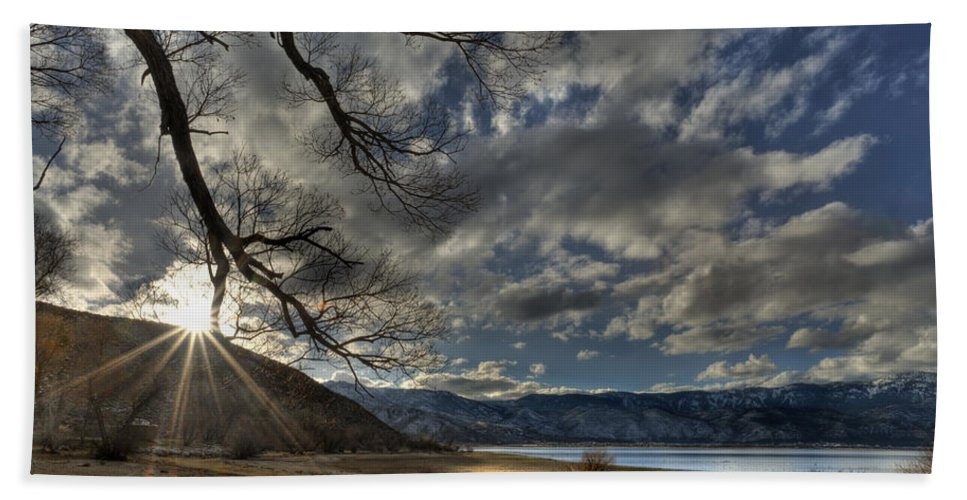 Clouds Bath Sheet featuring the photograph A Quiet Time by Dianne Phelps