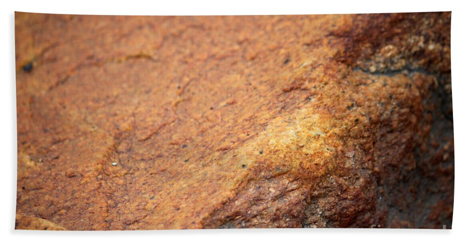 Rock Hand Towel featuring the photograph A Red Rock by Stacey May