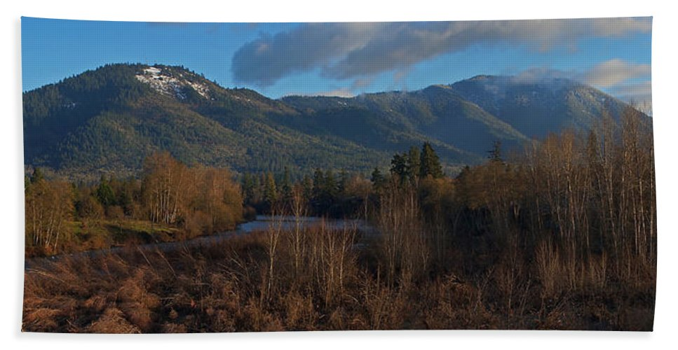 Grants Pass Hand Towel featuring the photograph A River Runs Through It by Mick Anderson