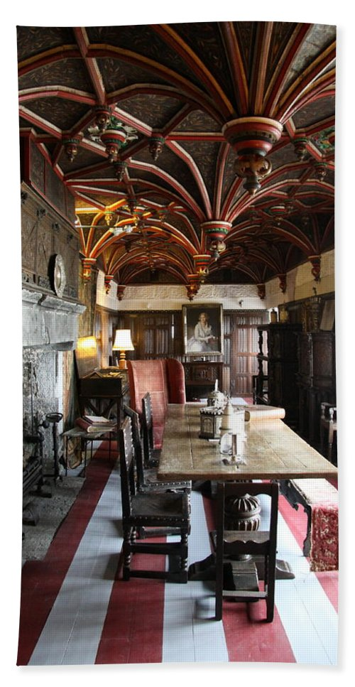Room Bath Sheet featuring the photograph A Room In Bunratty Castle by Christiane Schulze Art And Photography