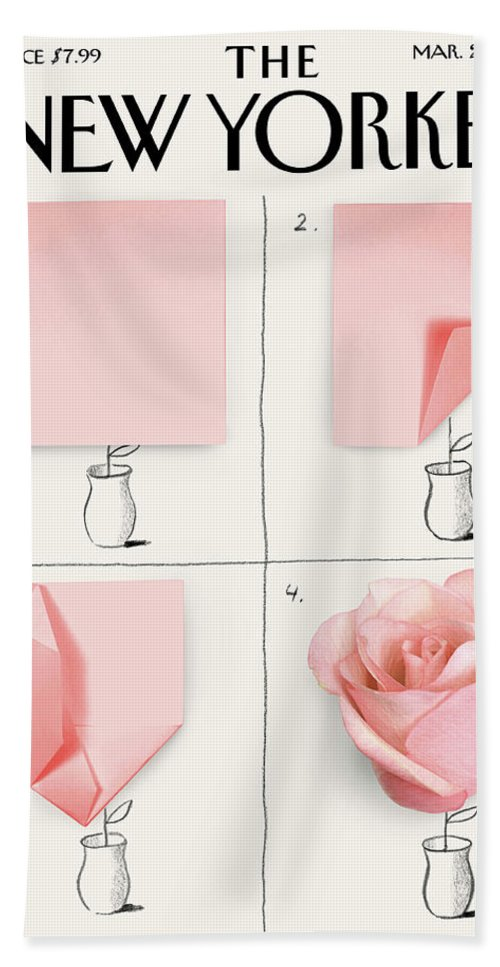 A Rose Bath Sheet