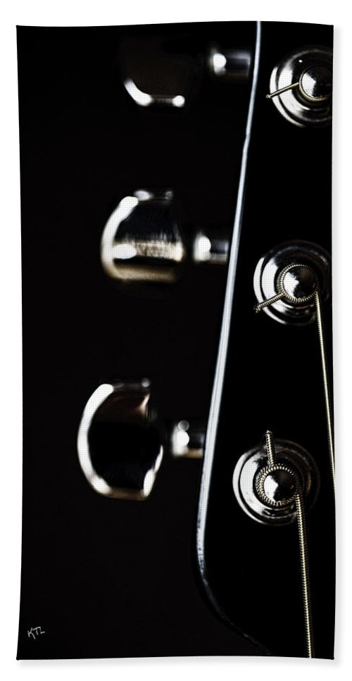 Guitar Hand Towel featuring the photograph A Sense Of Tune by Karol Livote