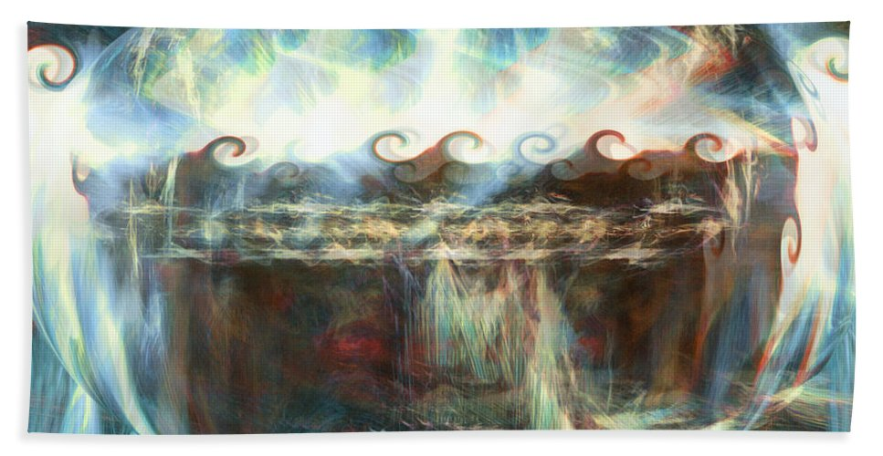 Special World Hand Towel featuring the digital art A Special World by Linda Sannuti