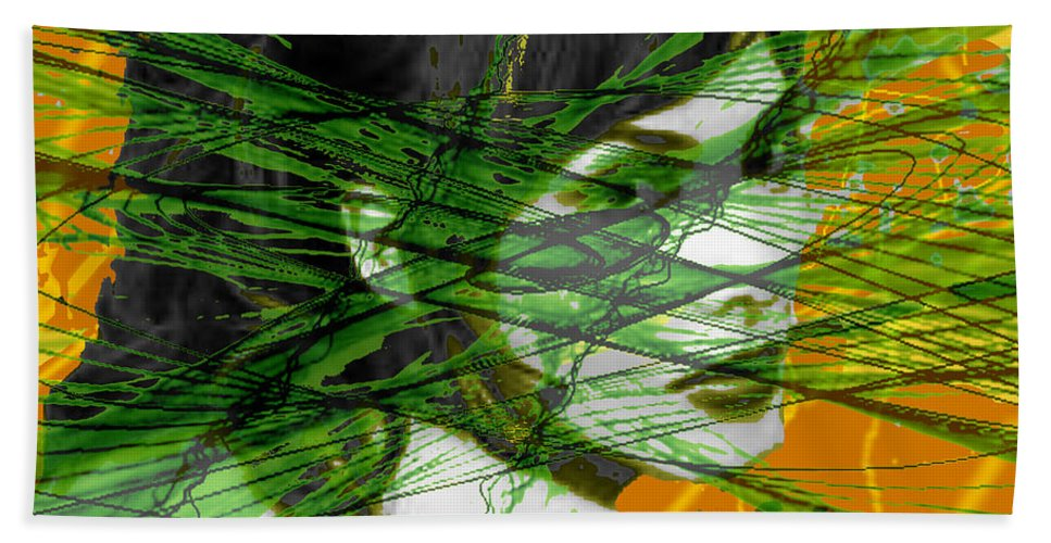A Tangled Web Hand Towel featuring the digital art A Tangled Web by Seth Weaver