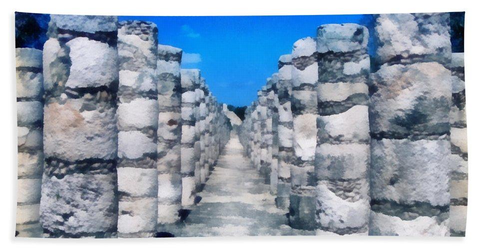 America Hand Towel featuring the digital art A Thousand Columns by Roy Pedersen