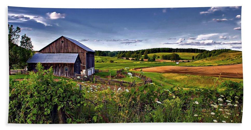 Landscape Bath Towel featuring the photograph A Verdant Land II by Steve Harrington