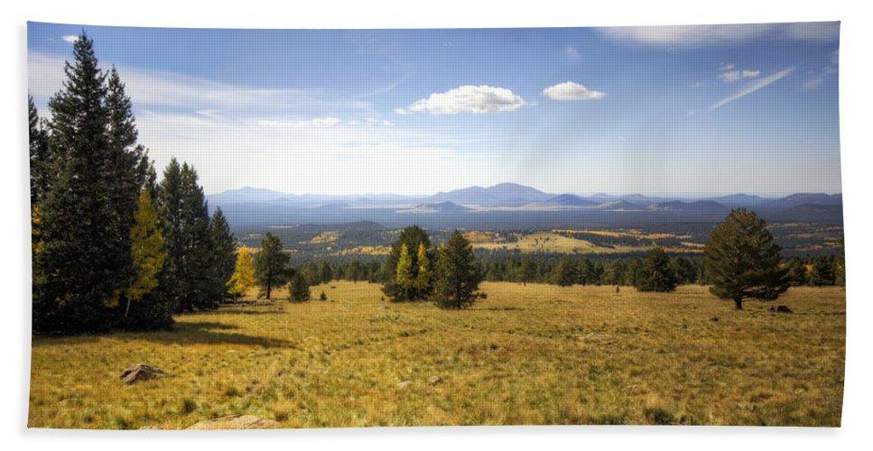 Arizona Bath Sheet featuring the photograph A View From The Peaks by Saija Lehtonen