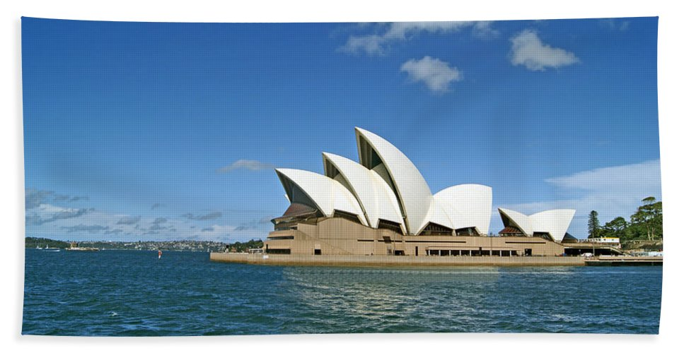 Performing Arts Hand Towel featuring the photograph A View Of The Sydney Opera House by Anonymous