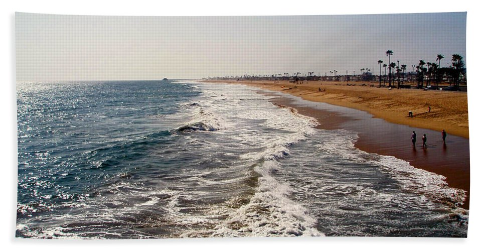 Beach Hand Towel featuring the photograph A Walk On The Beach by Carolyn Stagger Cokley