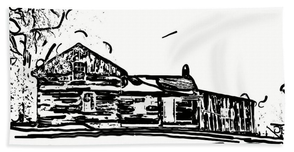 Log Cabin Hand Towel featuring the photograph A Winter Dream 3 by Steve Harrington
