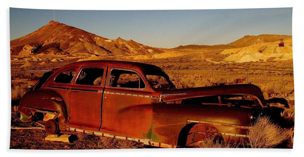 Rust Bath Sheet featuring the photograph Abandoned And Forgotten by Alicia Kent