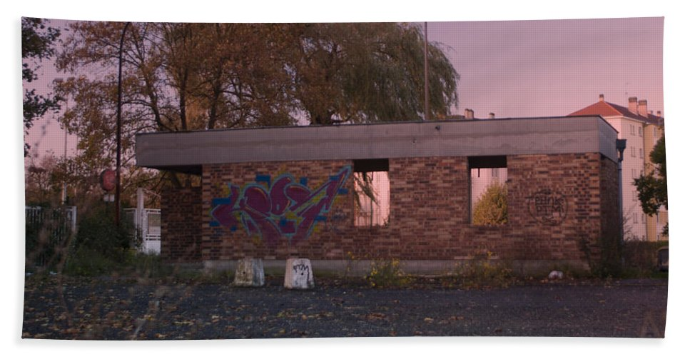 Abandoned Hand Towel featuring the photograph Abandoned Building In France by Miguel Winterpacht