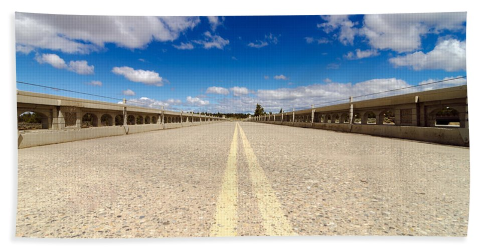 Highway Hand Towel featuring the photograph Abandoned Highway by Jess Kraft