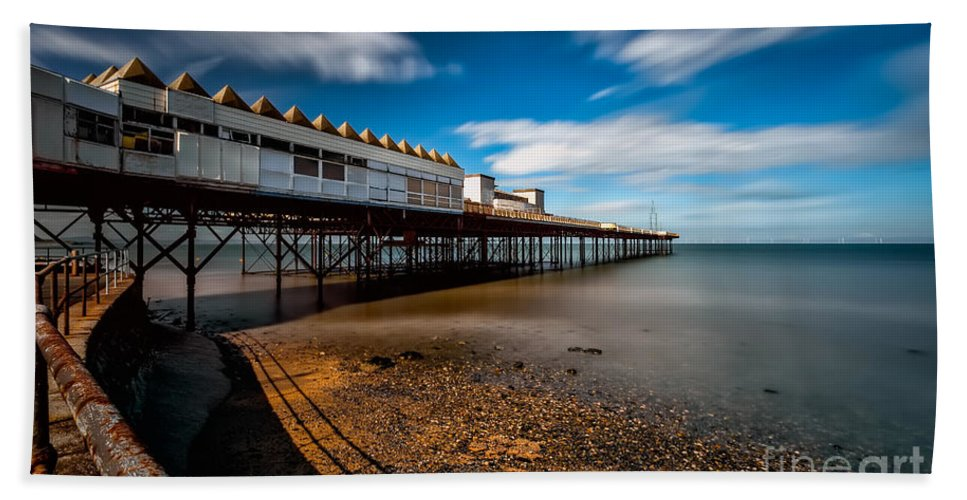 Victoria Pier Hand Towel featuring the photograph Abandoned Pier by Adrian Evans
