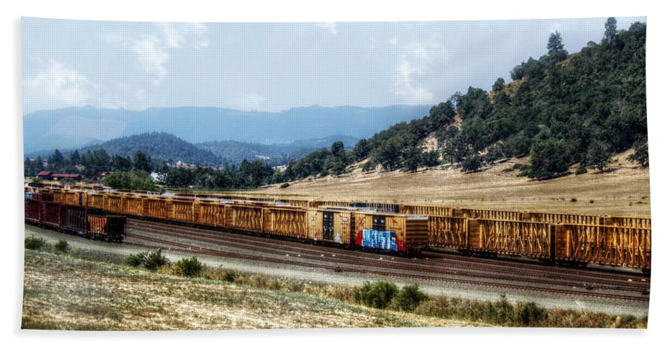 Railroad Bath Sheet featuring the photograph Abandoned Transportation by Melanie Lankford Photography