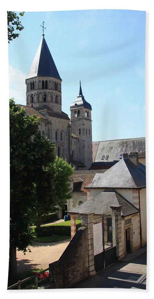 Minster Hand Towel featuring the photograph Abbey Cluny by Christiane Schulze Art And Photography