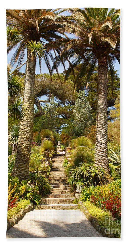 Landscape Hand Towel featuring the photograph Abbey Gardens Of Tresco On The Isles Of Scilly by Alex Cassels