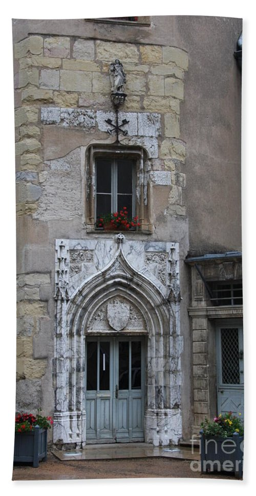 Palace Hand Towel featuring the photograph Abbot Palace Entrance Cluny by Christiane Schulze Art And Photography