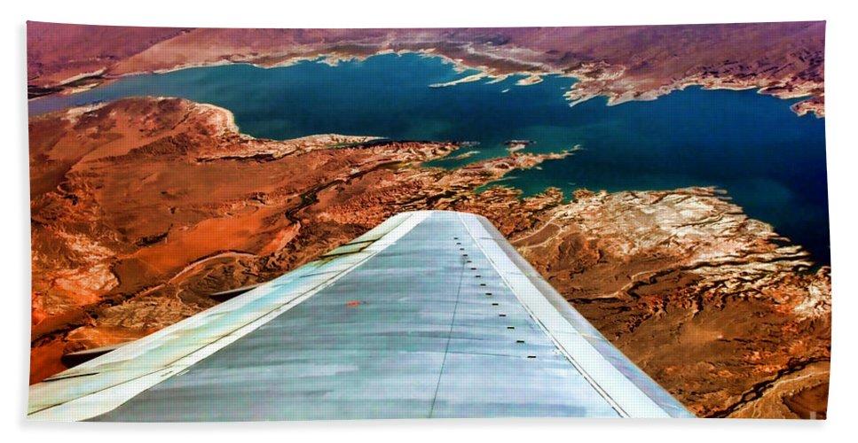Lake Mead Bath Sheet featuring the photograph Above Lake Mead By Diana Sainz by Diana Raquel Sainz