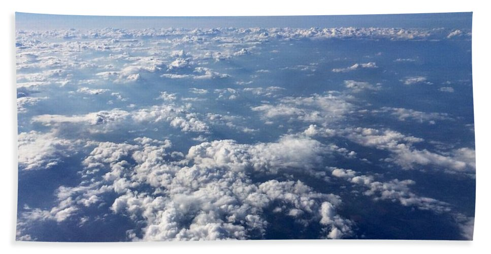 Clouds Bath Sheet featuring the photograph Above The Clouds by Paul Wilford