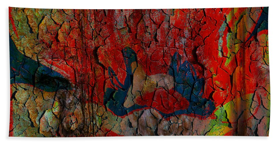 Emotion Hand Towel featuring the digital art Abstract - Emotion - Annoyance by Barbara Griffin