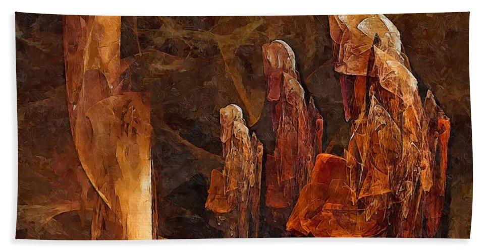 Graphics Hand Towel featuring the digital art Abstract 0271 - Marucii by Marek Lutek