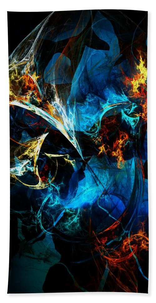 Abstract Hand Towel featuring the digital art Abstract 080613 by David Lane