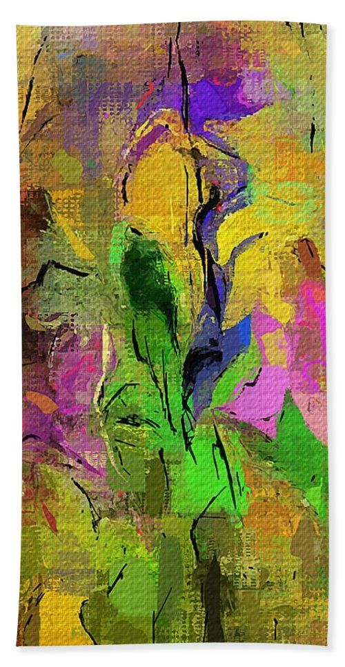 Abstract Hand Towel featuring the digital art Abstract 082713a by David Lane