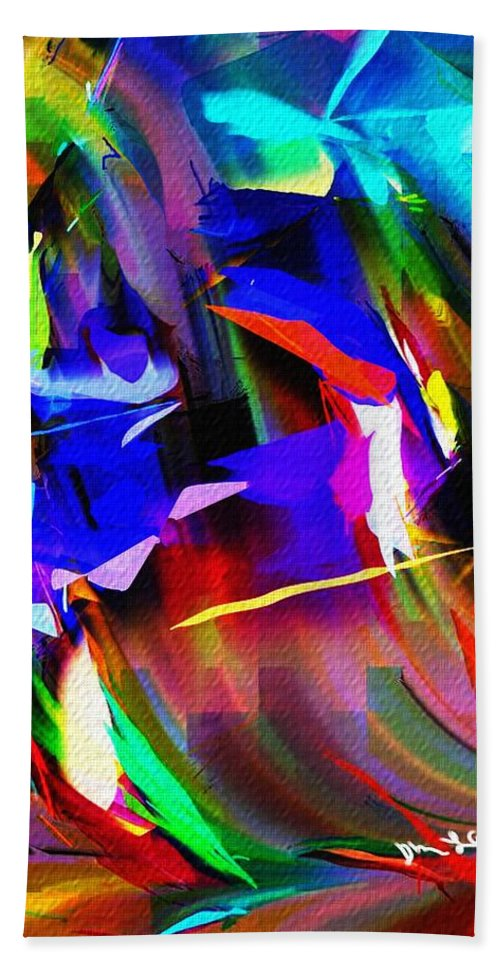 Abstract Hand Towel featuring the digital art Abstract 082713d by David Lane