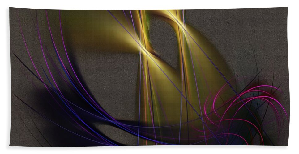 Abstract Bath Sheet featuring the digital art Abstract 090613 by David Lane
