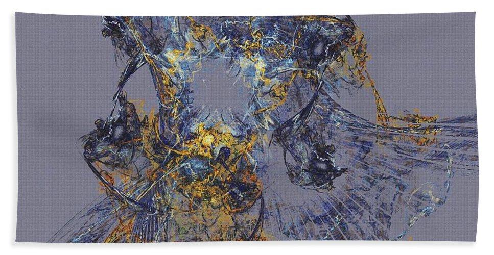Fine Art Bath Sheet featuring the digital art Abstract 101913 by David Lane