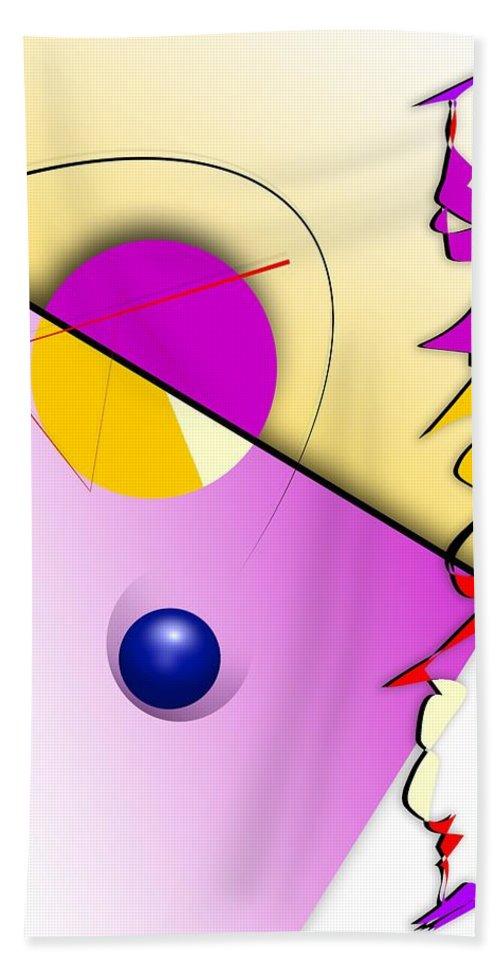 Abstract Hand Towel featuring the digital art Abstract 108 Marucii by Marek Lutek