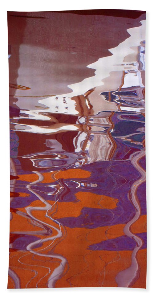 An Abstract Bath Sheet featuring the photograph Abstract 11 by Xueling Zou
