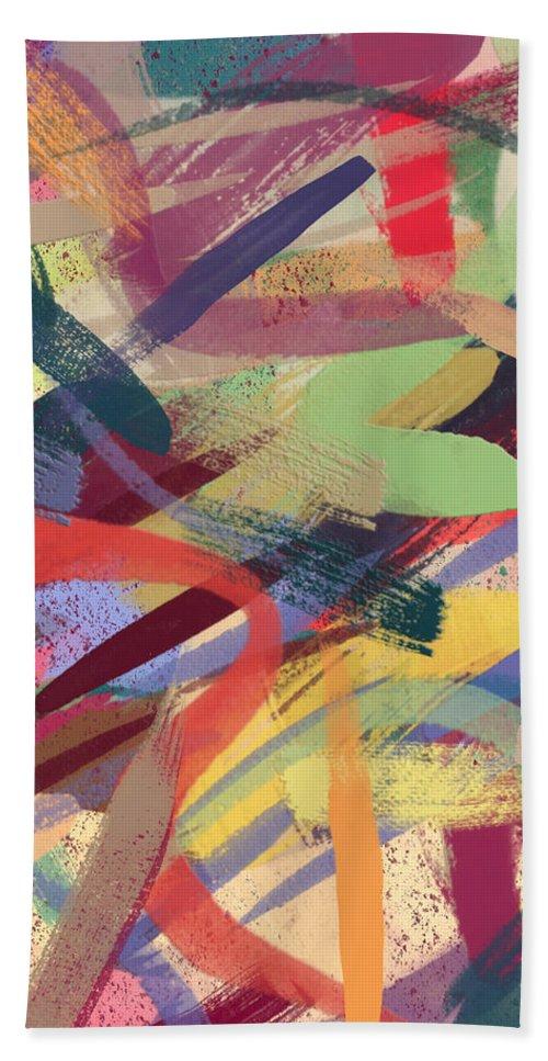 Abstract Bath Sheet featuring the digital art Abstract #12 by Donna Cregar