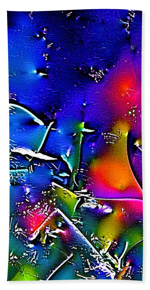 Abstract Bath Sheet featuring the photograph Abstract 12 by Pamela Cooper