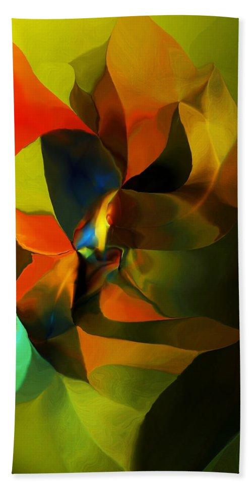 Fine Art Bath Sheet featuring the digital art Abstract 120412 by David Lane