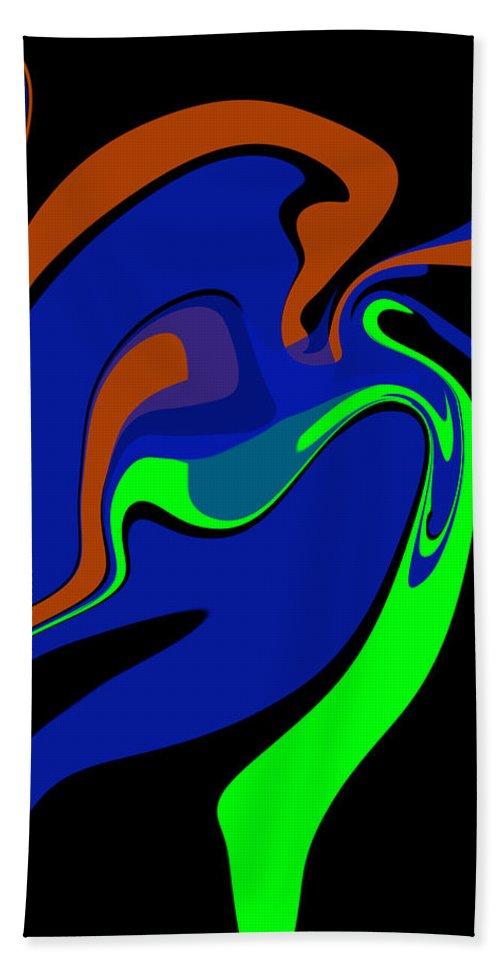 Original Hand Towel featuring the digital art Abstract 124 by J D Owen