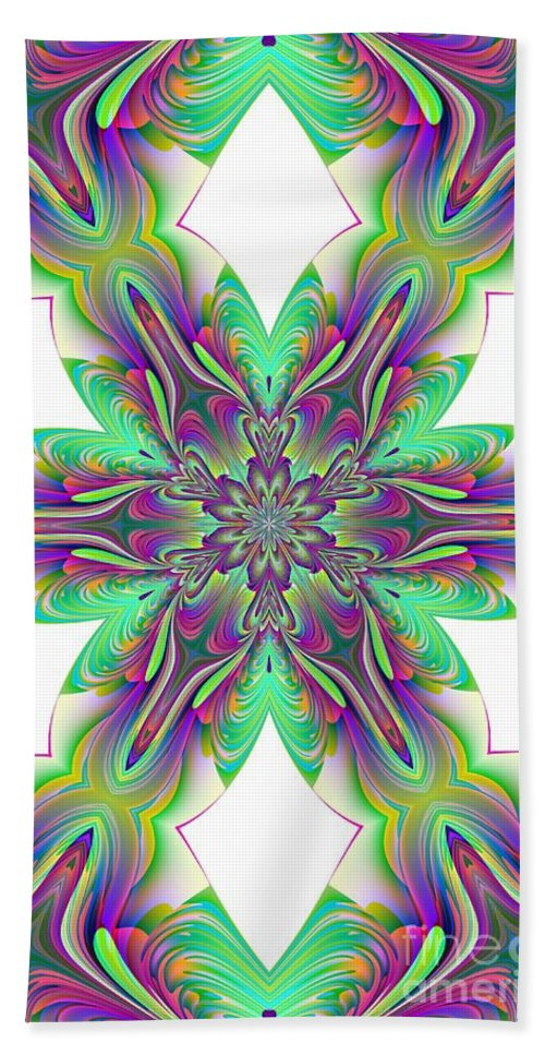 Abstract 156 Bath Sheet featuring the digital art Abstract 156 by Maria Urso