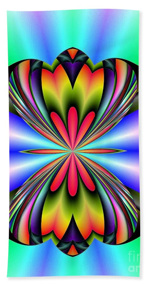 Abstract Bath Sheet featuring the digital art Abstract 160 by Maria Urso
