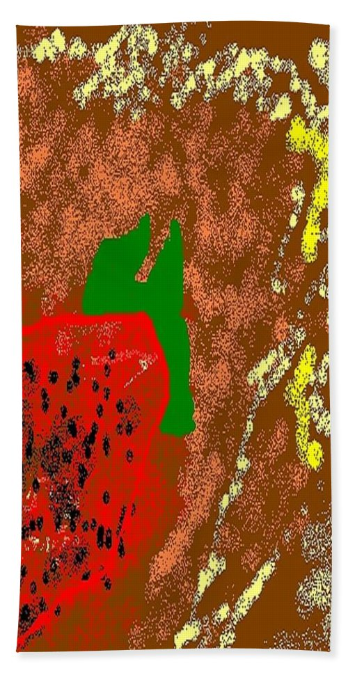 Strawberry Hand Towel featuring the painting Abstract #2 by Earnestine Clay