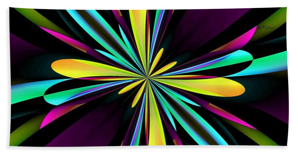 Abstract 222 Hand Towel featuring the digital art Abstract 222 by Maria Urso