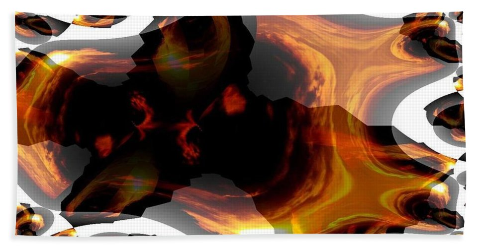 Abstract 236 Bath Sheet featuring the digital art Abstract 236 by Maria Urso