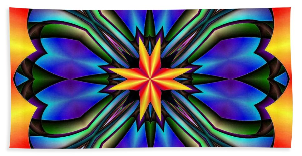Abstract 250 Hand Towel featuring the digital art Abstract 250 by Maria Urso