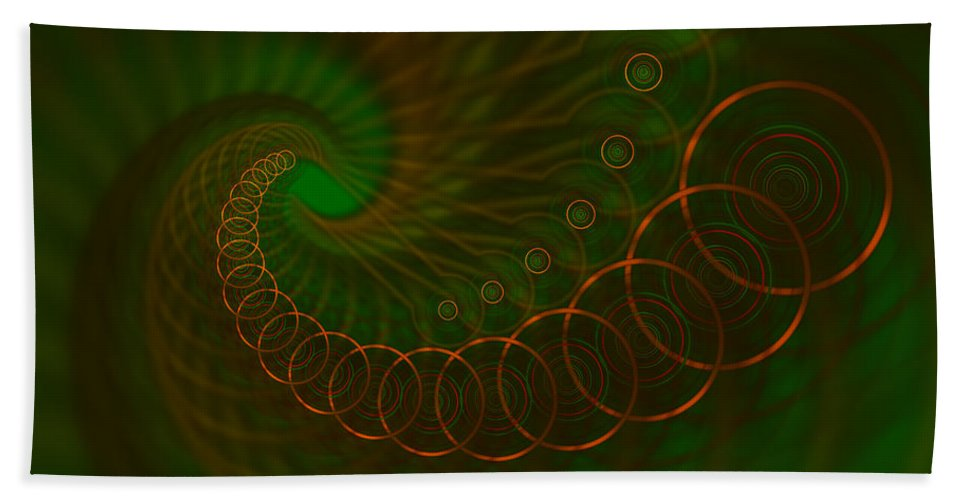 Circles Hand Towel featuring the digital art Abstract 340 by Judi Suni Hall