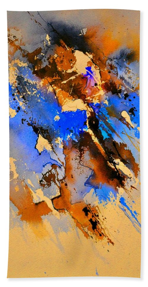 Abstract Bath Sheet featuring the painting Abstract 4110212 by Pol Ledent