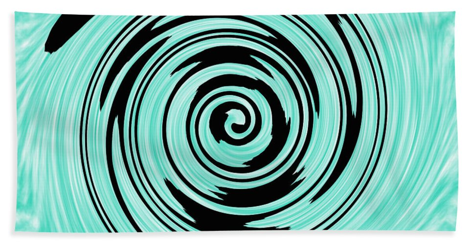 Cyan Hand Towel featuring the photograph Abstract #5 by Judy Whitton