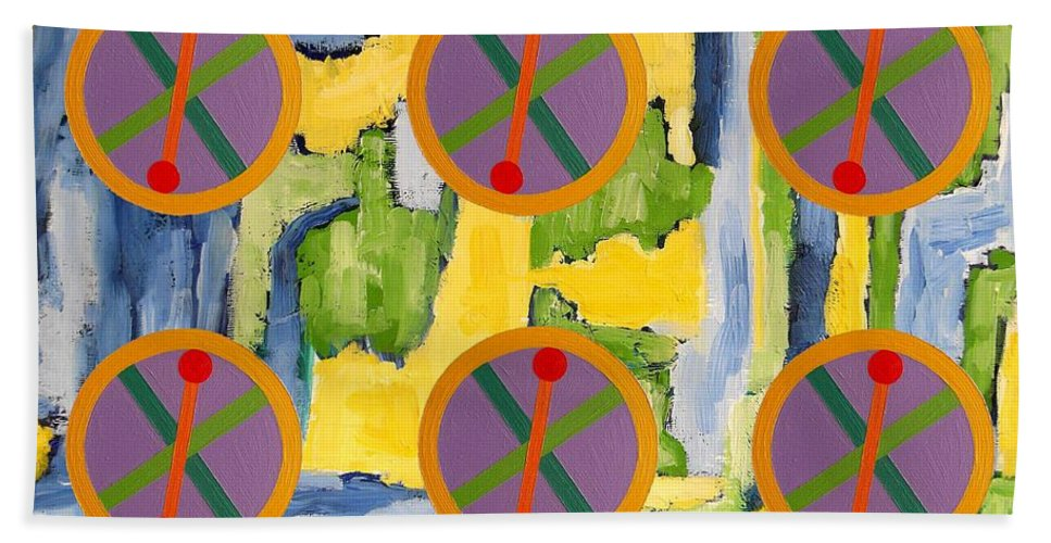 Celtic Bath Sheet featuring the painting Abstract 82 by Patrick J Murphy