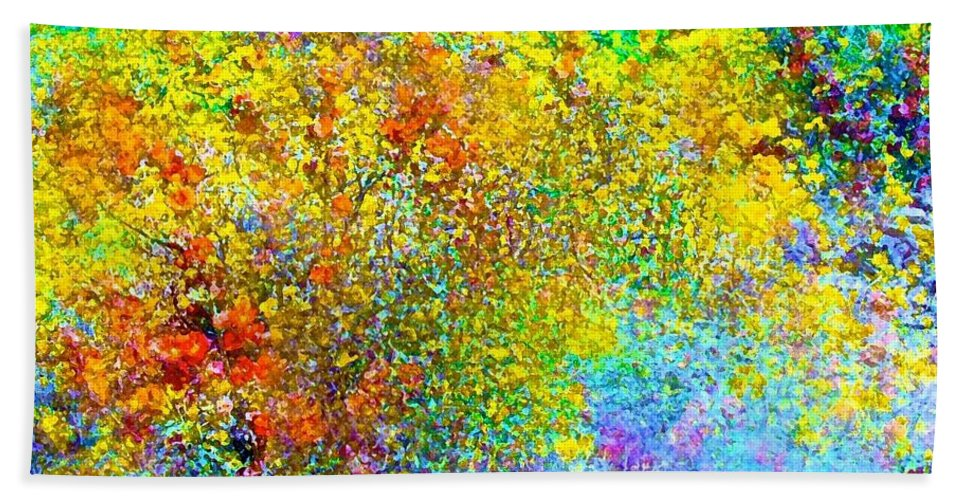 Abstract Bath Sheet featuring the photograph Abstract 96 by Pamela Cooper