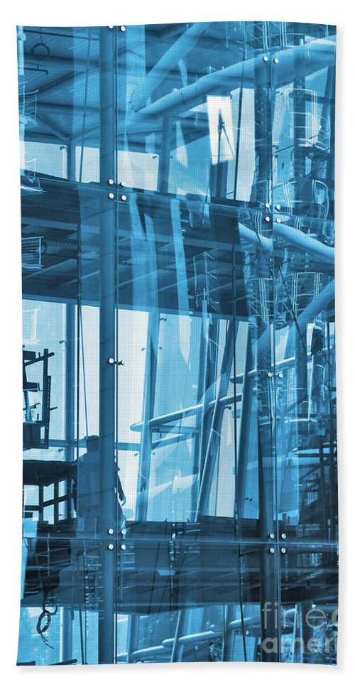 Abstract Hand Towel featuring the photograph Abstract Architecture by Carlos Caetano